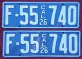 1926 California License Plates