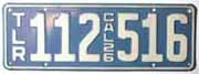 1926 California Trailer License Plate