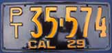 1939 California Trailer License Plate