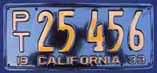 1933 California Trailer License Plate