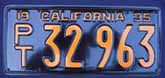 1935 California Trailer License Plate