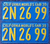 1939 California License Plates