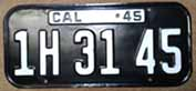 1945 California License Plates