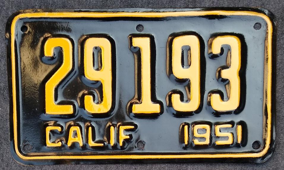 Vintage Antique Classic Car Automobile | California Vintage License ...
